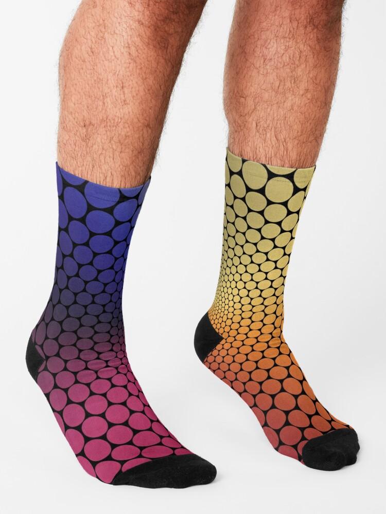 Alternate view of Optical Illusion Angle Gradient on Black Socks