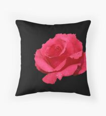 Red rose from Carol's garden Throw Pillow