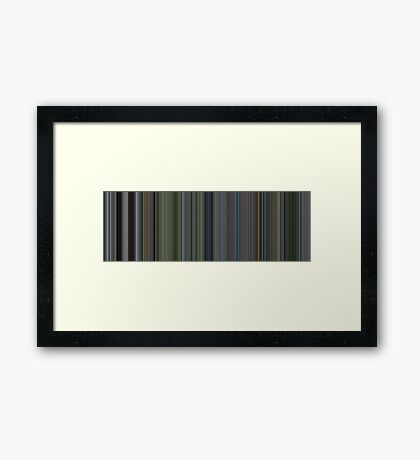 Moviebarcode: The Thin Red Line (1998) [Simplified Colors] Framed Print