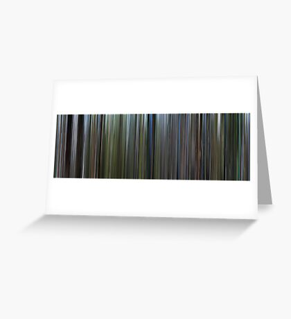 Moviebarcode: The Thin Red Line (1998) Greeting Card