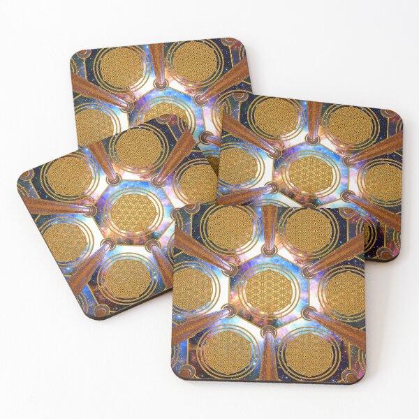 Flower of life Healing Code Coasters (Set of 4)
