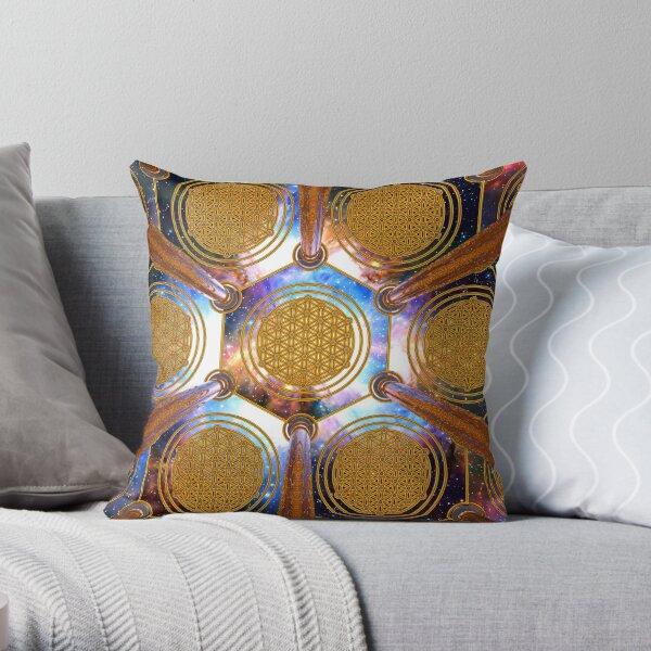 Flower of life Healing Code Throw Pillow