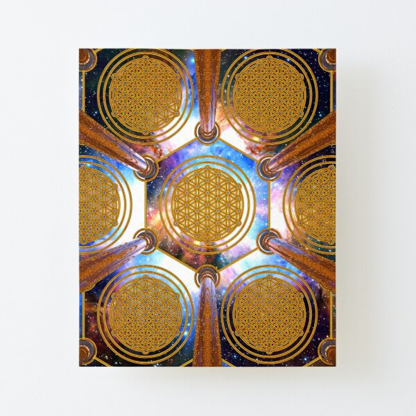 Flower of life Healing Code Canvas Mounted Print
