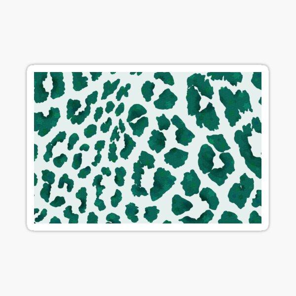Green Chame-Leo-Pardus - Leopard Print Inspired Pattern Sticker