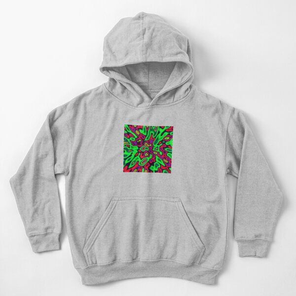 Color Sequences Shape and Volume | Jungle pop Kids Pullover Hoodie