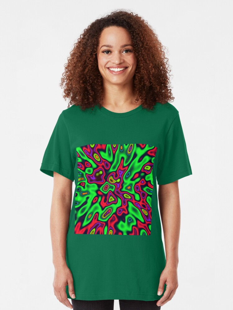 Alternate view of Color Sequences Shape and Volume | Jungle pop Slim Fit T-Shirt
