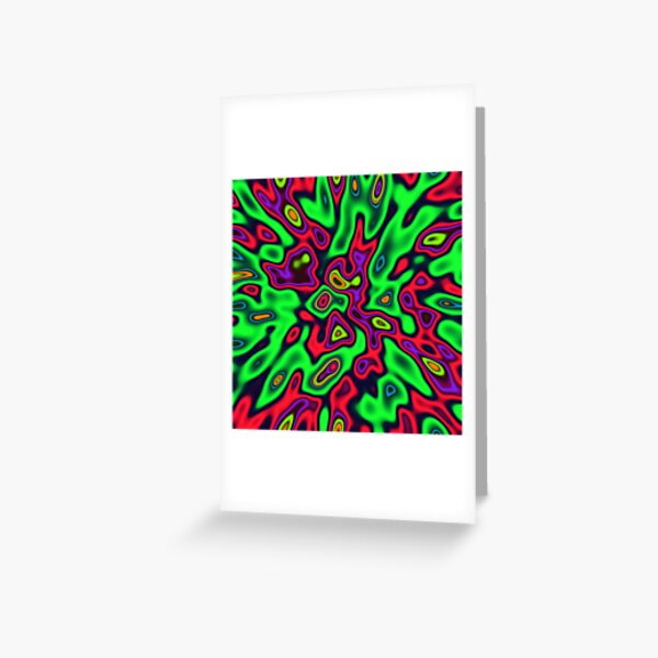 Color Sequences Shape and Volume | Jungle pop Greeting Card