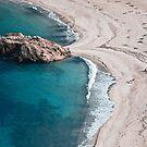 Sea and beach in Greece, near Argalasti by Maxim Mayorov