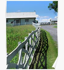Farm and Fence Poster