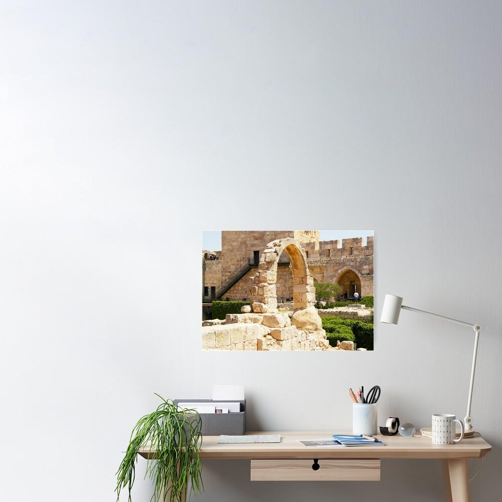 Jerusalem, Israel. Citadel Arch. Poster