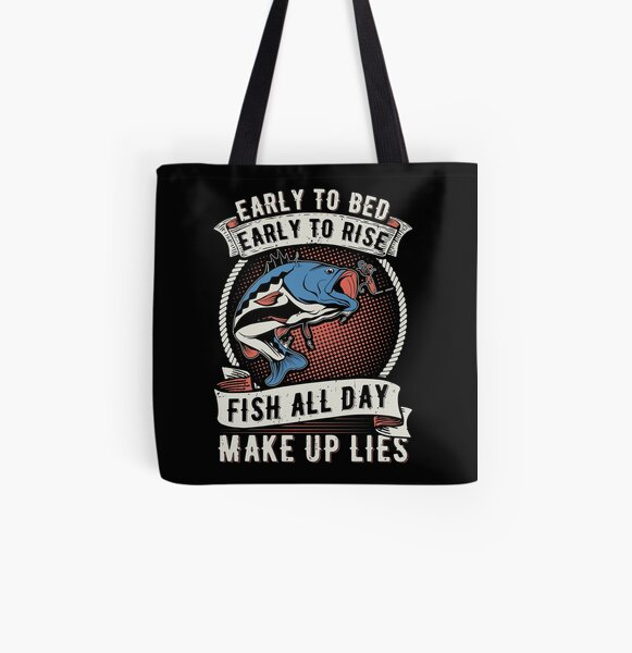 Unique Gift for Fly Fishing Fisherman or Cook. Trout Fish Tote Bag made from 100/% Natural Cotton Calico with Original Hand Drawn Art