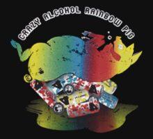 TShirtGifter Presents: Crazy Alcohol Rainbow Pig