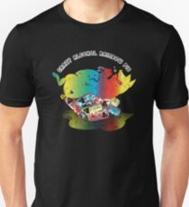Crazy Alcohol Rainbow Pig Unisex T-Shirt