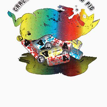 Crazy Alcohol Rainbow Pig by mactosh