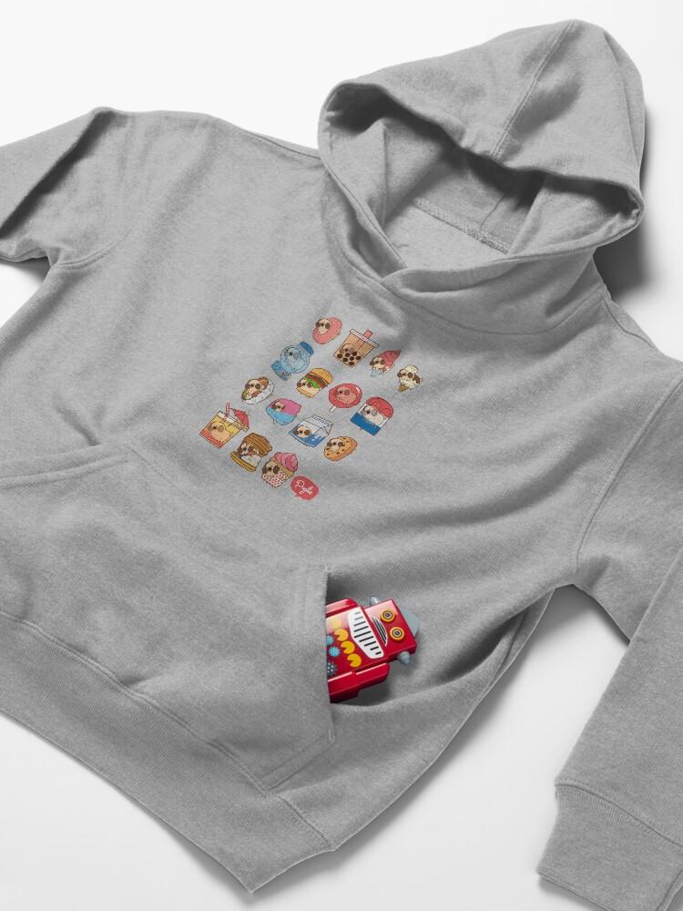 Alternate view of Puglie Food 3 Kids Pullover Hoodie