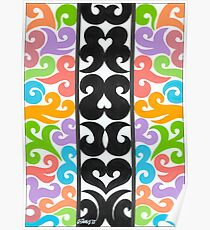 Curly Abstract - By RainbowArt Poster