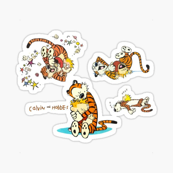 calvin and hobbes bill watterson Sticker