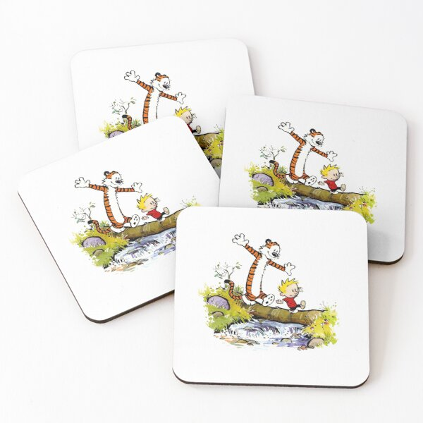 calvin and hobbes bill watterson Coasters (Set of 4)
