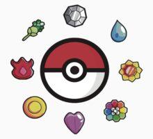 Pokemon Badges, first Generation