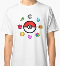 Pokemon Badges, first Generation Classic T-Shirt
