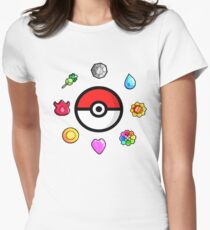 Pokemon Badges, first Generation T-Shirt