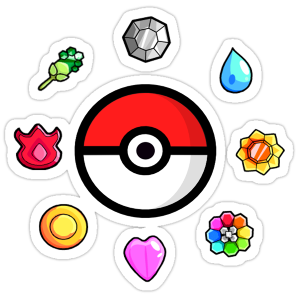 Pokemon Badges, first Generation by Rhyssiiee