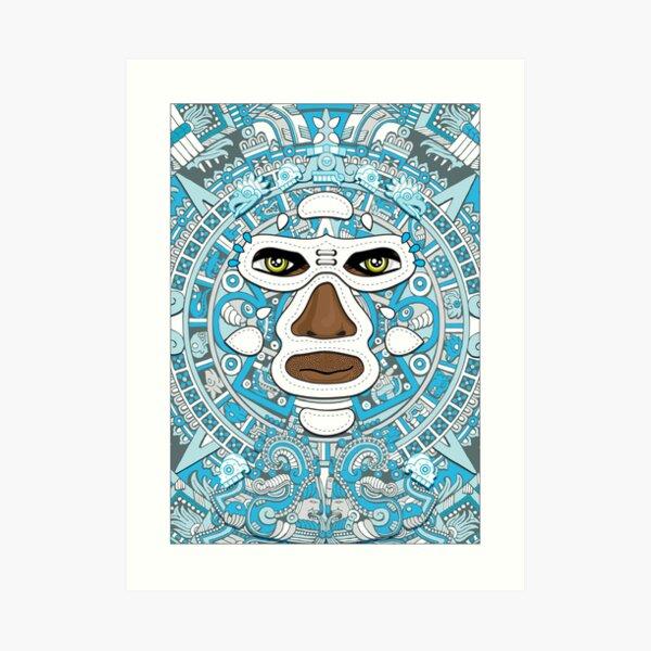 El luchador Azteca Art Print