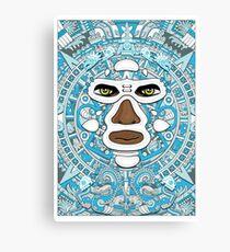 El luchador Azteca Canvas Print