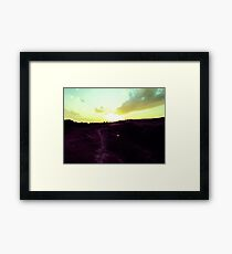Walking Toward The Sun Framed Print