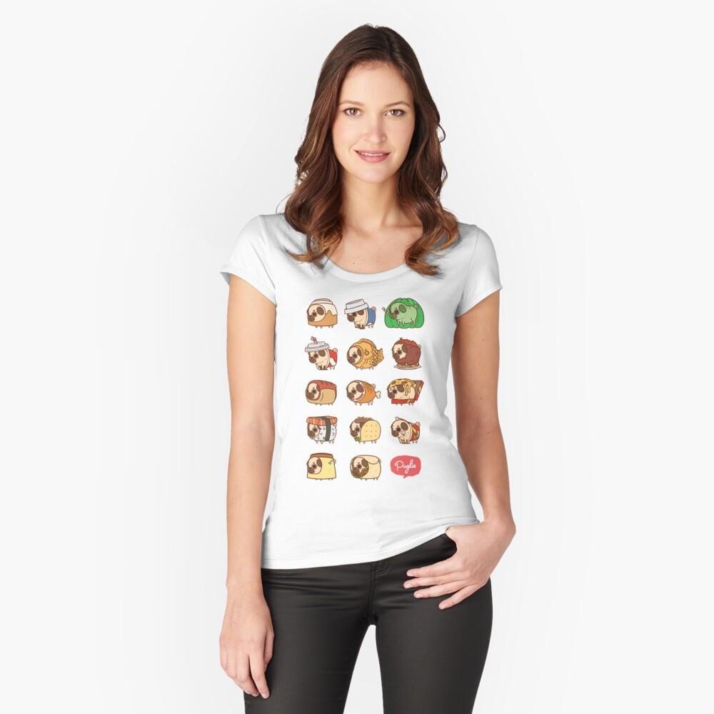 Puglie Essen 1 Tailliertes Rundhals-Shirt