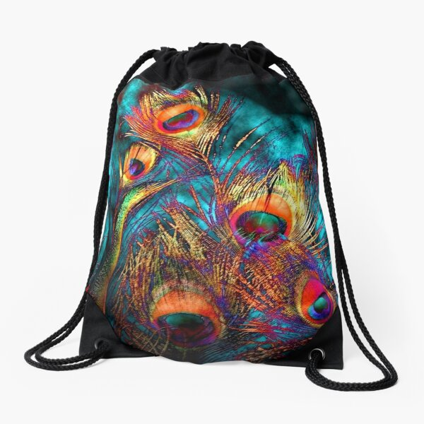 Miss P's Feathers Drawstring Bag