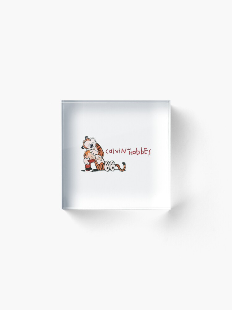 Alternate view of calvin and hobbes bill watterson Acrylic Block
