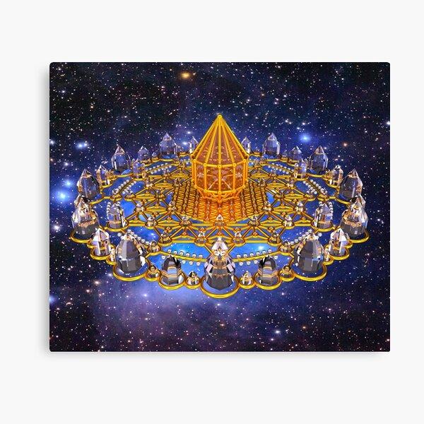 Merkaba Matrix Stargate Grid Canvas Print