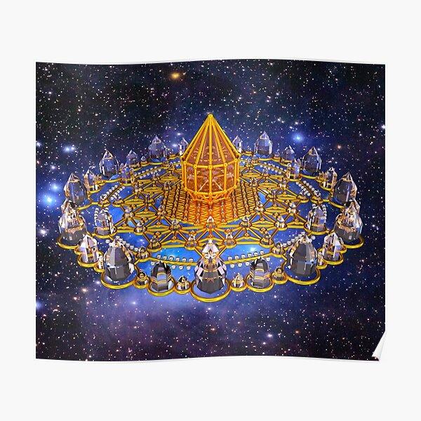 Merkaba Matrix Stargate Grid Poster