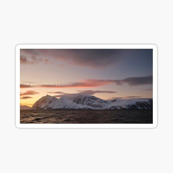 Norwegian Seascape at Sunset Sticker