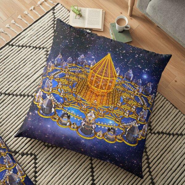 Merkaba Matrix Stargate Grid Floor Pillow