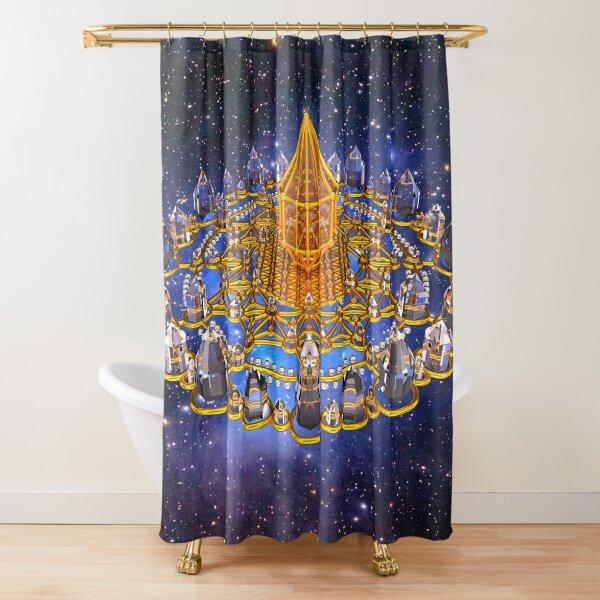 Merkaba Matrix Stargate Grid Shower Curtain