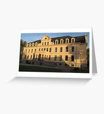 Castle Ribbeck in the evening sun Greeting Card