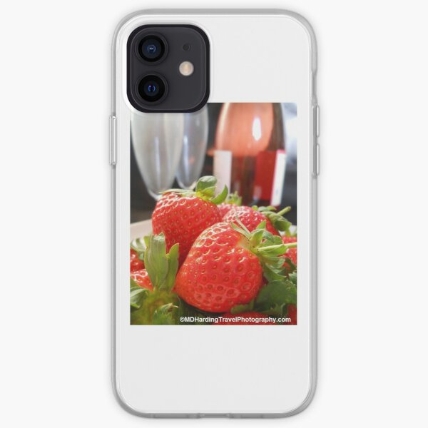 Strawberries and Pink Champagne  iPhone Soft Case