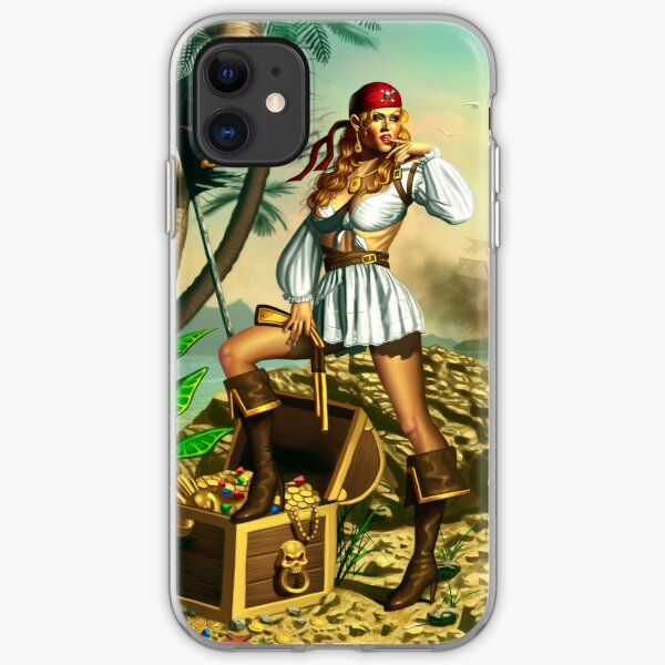 Pirate Girl iPhone Soft Case