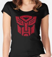 Transformers Autobots Red Women's Fitted Scoop T-Shirt