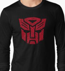 Transformers Autobots Red Long Sleeve T-Shirt