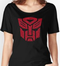 Transformers Autobots Red Women's Relaxed Fit T-Shirt