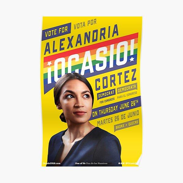 Alexandria Ocasio-Cortez Congressional Campaign Poster (Pride version) Poster