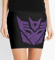 Transformers Decepticons Purple Mini Skirt