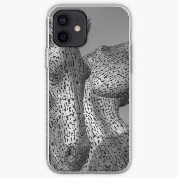 Kelpies - Black and White iPhone Soft Case