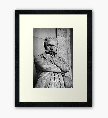 Moustache Man Framed Print