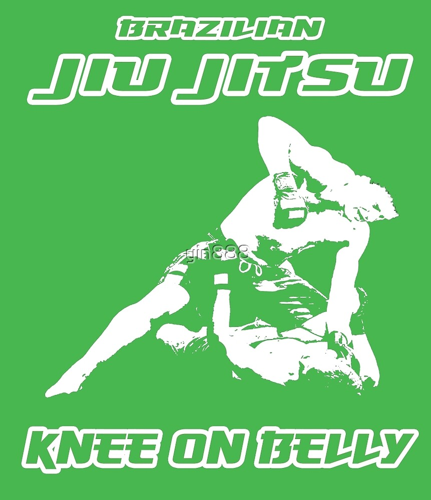 Brazilian Jiu Jitsu Knee On Belly Green  by yin888