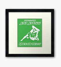 Brazilian Jiu Jitsu Knee On Belly Green  Framed Print