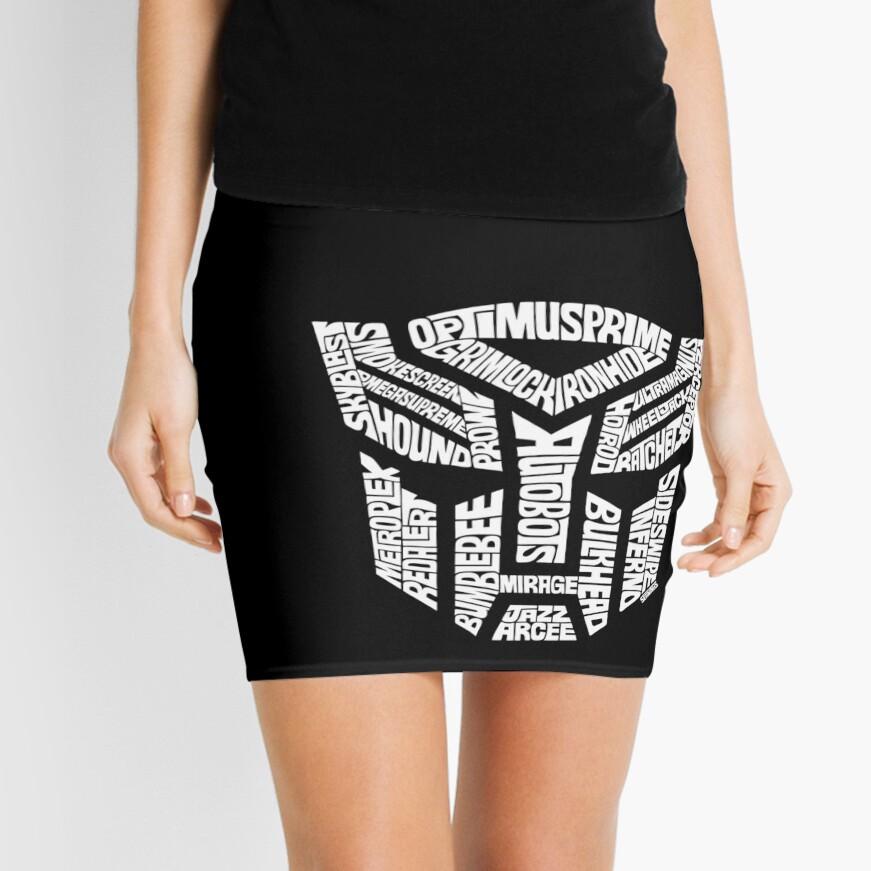 Transformer Autobots White Mini Skirt
